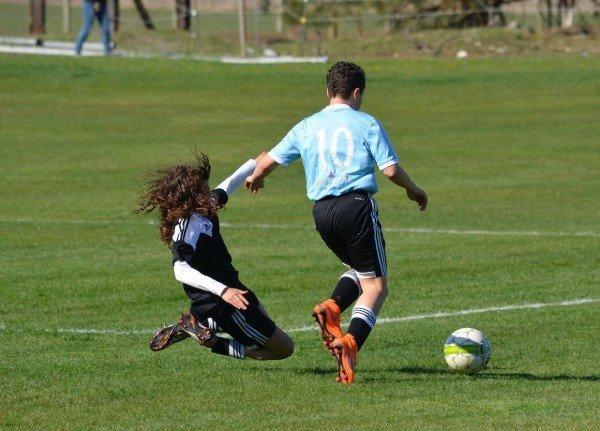 Voetbal sliding